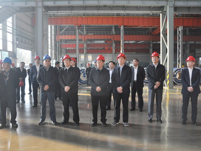 Mr. Yujun Wang, the Secretary of Linyi Municipal Party Committee visited Shandong Hongwang